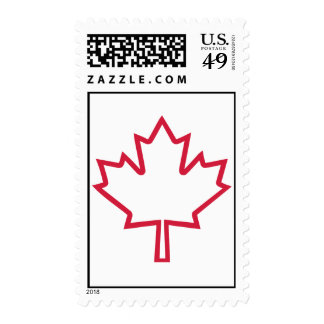 Canada maple leaf stamp