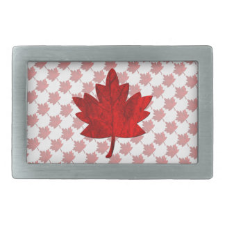 Canada-Maple Leaf Rectangular Belt Buckle