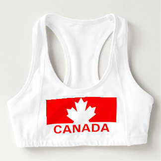 Canada Maple Leaf Sports Bra