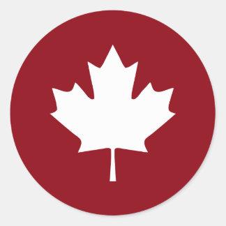 Canada Maple Leaf Sticker - Reverse Colors