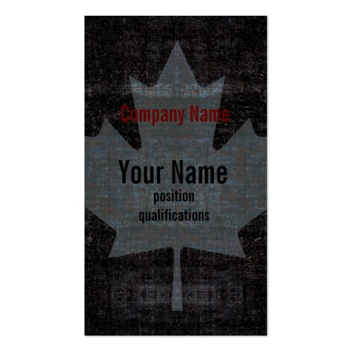 Canada maple leaf stylish business card template