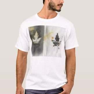 Canada Maple Leaf Two Ways Natural Ink Artwork T-Shirt