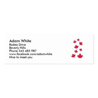 Canada maple leafs business card