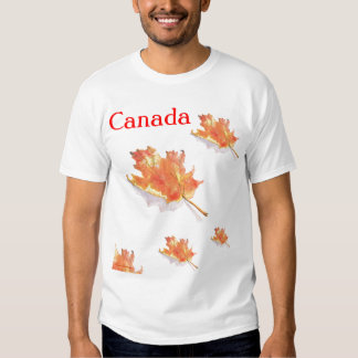 Canada Maple Leaves Tee Shirt