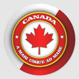 Canada Medallion Classic Round Sticker