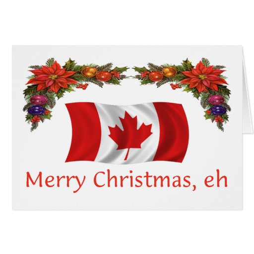 Canada Merry Christmas Eh Greeting Card Zazzle