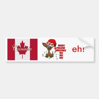 Canada Merry Freakin' Christmas  HO!HO!HO! eh! Bumper Sticker