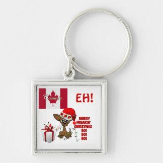 Canada Merry Freakin' Christmas  HO!HO!HO! eh! Keychain