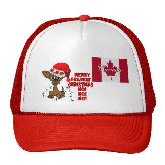 Canada Merry Freakin' Christmas  HO!HO!HO! eh! Trucker Hat