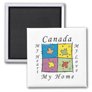 Canadá mi hogar imán para frigorifico