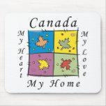 Canadá mi hogar tapete de ratón