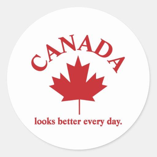 Canadá mira un mejor diario pegatinas redondas
