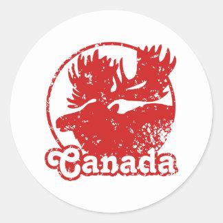 Canada Moose Classic Round Sticker