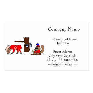 Canada Moose Syrup Beaver Business Card