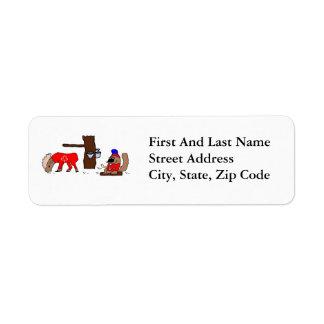 Canada Moose Syrup Beaver Label