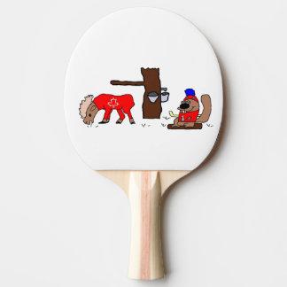 Canada Moose Syrup Beaver Ping-Pong Paddle