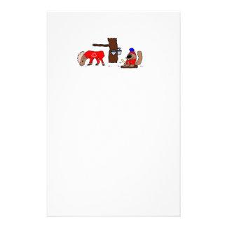 Canada Moose Syrup Beaver Stationery