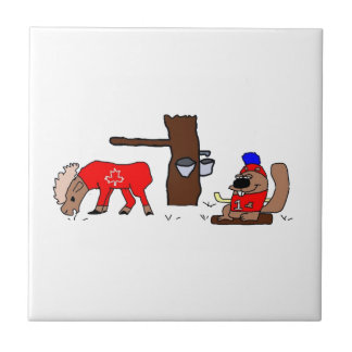 Canada Moose Syrup Beaver Tile
