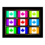 Canada Multihue Flags Postcard