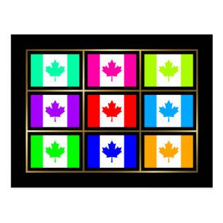 Canadá Multihue señala la postal por medio de una