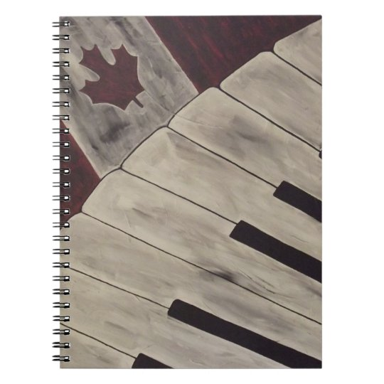 Canada Music Notes Notebook