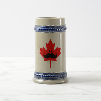 Canada Mustache - A mustache on red maple Beer Stein
