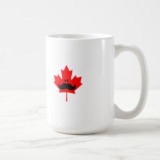 Canada Mustache - A mustache on red maple Coffee Mug