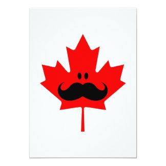 Canada Mustache - A mustache on red maple Personalized Invite