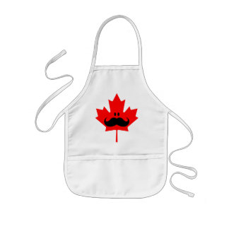 Canada Mustache - A mustache on red maple Kids' Apron