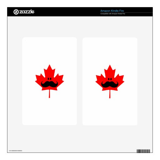 Canada Mustache - A mustache on red maple Kindle Fire Skins