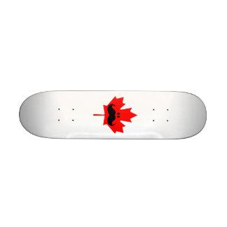 Canada Mustache - A mustache on red maple Skate Board Decks