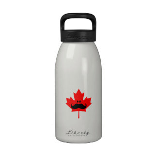 Canada Mustache - A mustache on red maple Drinking Bottles