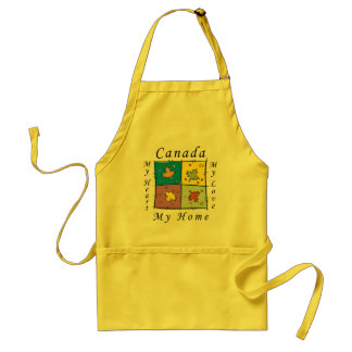 Canada My Home Adult Apron