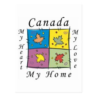 Canada My Home Postcard