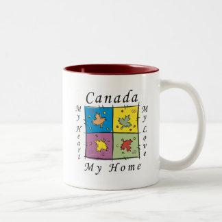 Canada My Home Two-Tone Coffee Mug