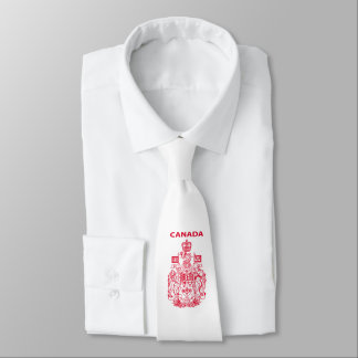 Canada national emblem neck tie