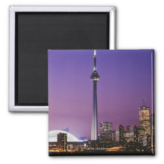 Canada National Tower, Toronto, Canada 2 Inch Square Magnet