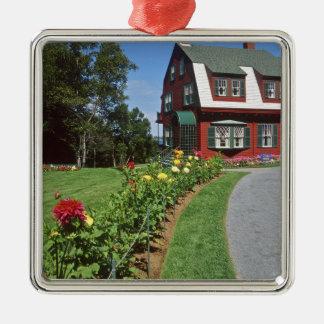 Canada, New Brunswick, Campobello Island. 2 Square Metal Christmas Ornament
