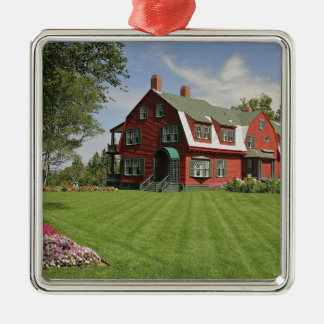 Canada, New Brunswick, Campobello Island. Square Metal Christmas Ornament