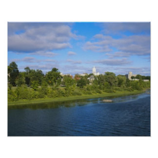 Canada, New Brunswick, Fredericton, City view Posters