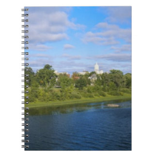 Canada, New Brunswick, Fredericton, City view Spiral Notebook