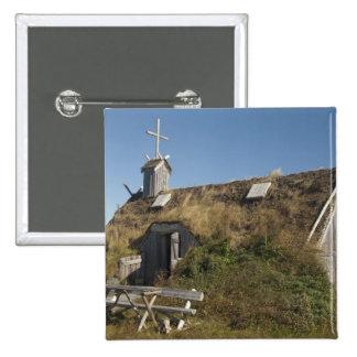 Canada, Newfoundland and Labrador, L'Anse Aux 2 Inch Square Button