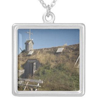 Canada, Newfoundland and Labrador, L'Anse Aux Square Pendant Necklace