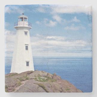 Canada, Newfoundland, Cape Spear National Stone Coaster