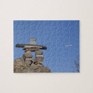 Canada, Newfoundland, St. John's. Inukshuk (to Jigsaw Puzzle