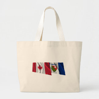 Canada & Northwest Territories Waving Flags Canvas Bags