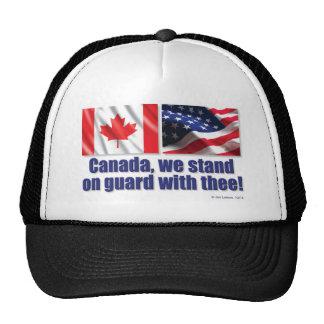 ¡Canadá, nos colocamos en guardia con thee! Gorras De Camionero