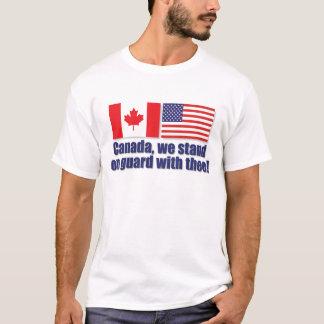 ¡Canadá, nos colocamos en guardia con thee! Playera