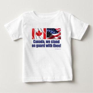 ¡Canadá, nos colocamos en guardia con thee! Playera De Bebé