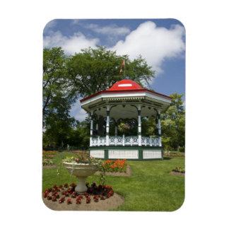Canada, Nova Scotia, Halifax, Public Gardens. 2 Rectangular Photo Magnet